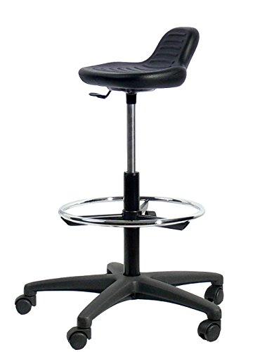 Topsit werkstoel, zwart