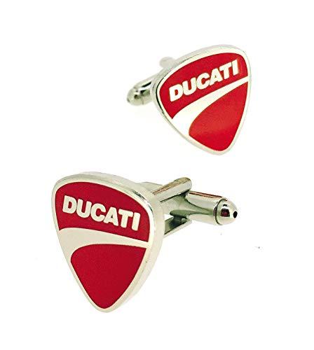 Gemelolandia   Manschettenknöpfe für Hemden von Ducati, originelle Manschettenknöpfe für Hemden   für Männer und Jungen   Geschenke für Hochzeiten, Kommunion, Taufen und andere Veranstaltungen