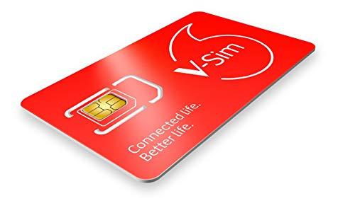 Vodafone V-SIM, eine Smart SIM-Karte, funktioniert mit GPS verbundenen Tracking-Geräten.