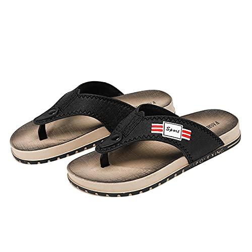 xinghui Chanclas de Mujer Slipparadoras de Sandalia de pie de Clip para Personas al Aire Libre Flops para Hombres Sandalias de Playa-Negro_40