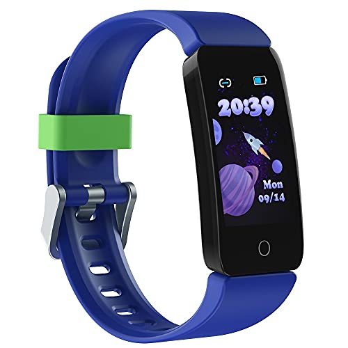 Poryoo Fitness Tracker Watch for Kids Girls Boys Teens, Waterproof Activity Tracker with Pedometer, Calories Counter, Heart Rate, Sleep Monitor, Alarm Clock, Great Kids Gift