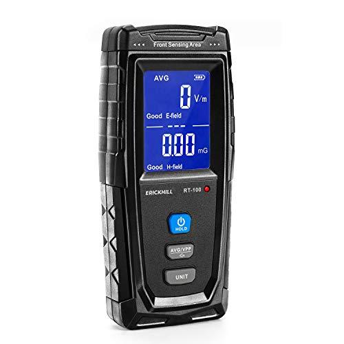 ERICKHILL 電磁波計 電磁波 電磁場放射 テスター EMFメーター 充電式 ハンドヘルド LCD 警報機能付き 家庭用 検査用