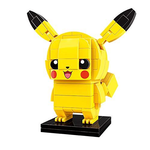 Q-Man Pokemon Pikachu Figure Set (Bricks Building Kit) Anime 3D Model Construction Toy