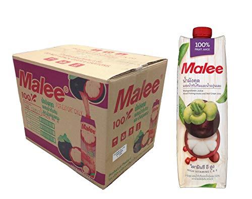 Malee ( マリー ) マンゴスチンミックスジュース 100% ( 1000ml 12本セット ) マンゴスチン 75% ざくろ 15% 赤ぶどう 10% ジュース
