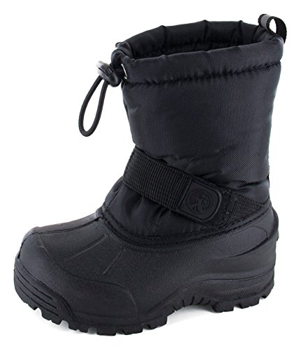 Northside Unisex-Child Frosty, Black, 4 M US Big Kid