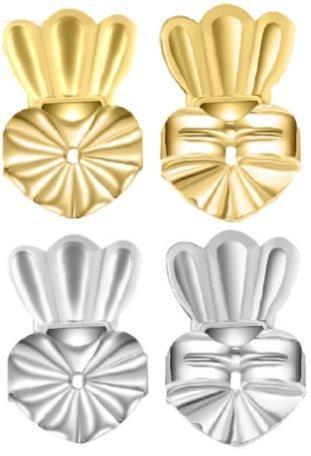 Earring Backs for Droopy Ears - Earring Lifters (2 Earring Lifters + 2 Earring Backs + Jewelry Box) - Earing Backs Secure Rubber - Earring Backs Rubber Earring Backs Clear Earring Backs Replacements