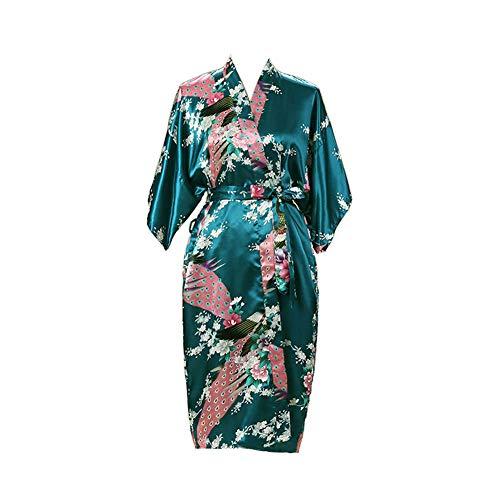 2 Colori Blu Rosa Donna Raso Vestaglia Accappatoio UK 10//12