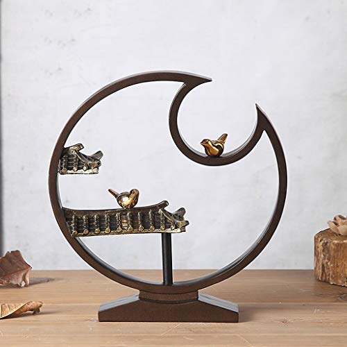 AFQHJ Bureau Decoratie Sculpturen Nieuwe Moderne Metalen Beugel Decoratie Woonkamer TV Kast Home Accessoires Klassieke Voorbeeld Kamer Decoratie
