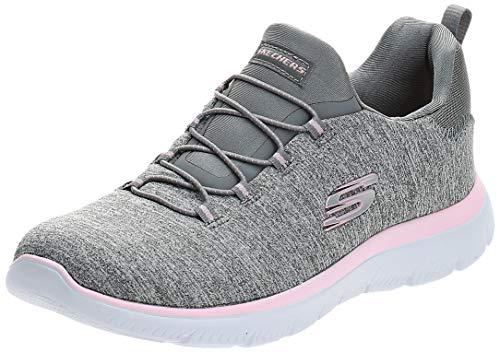 Skechers Sport Women's Summits Sneaker,grey light pink,6.5 M US