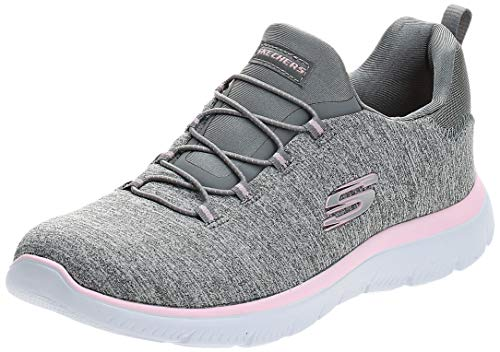 Skechers Sport Women's Summits Sneaker,grey light pink,6.5 M US