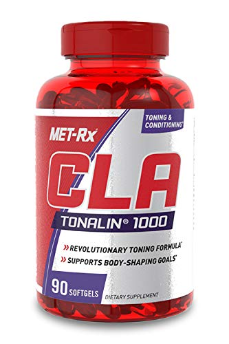 MET-Rx CLA Tonalin 1000 Supplement, Supports Weight Loss and Toning, 90 Softgels