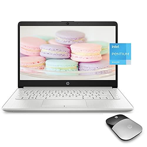 "HP Premium Laptop, 14"" HD Display, Intel Pentium Quad-Core Processor, 8GB RAM, 128GB SSD, Webcam, HDMI, Bluetooth, Wi-Fi, Windows 10 + One Year Office 365 and HP Wireless Mouse Bundle"