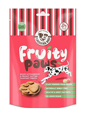 Strawberry & Peanut Butter Vegan Treats by Laughing Dog