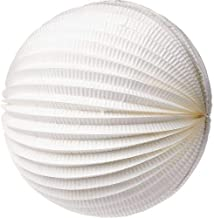 Cultural Intrigue Luna Bazaar Accordion Paper Lantern (12-Inch, White) - Chinese/Japanese Hanging Decorations - for Home Decor, Parties, and Weddings