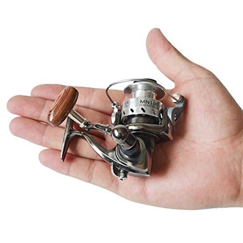 DFSMG Spinning Full Metal Cuerpo Carrete De La Pesca del Hielo del Carrete Balsa Señuelo De La Rueda Mini Pequeño Carrete De Pesca Accesorios Piezas (Color : Black)