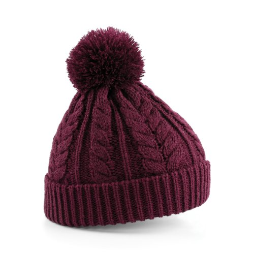 Beechfield - Bonnet épais tricoté - Femme (Taille unique) (Bordeaux)