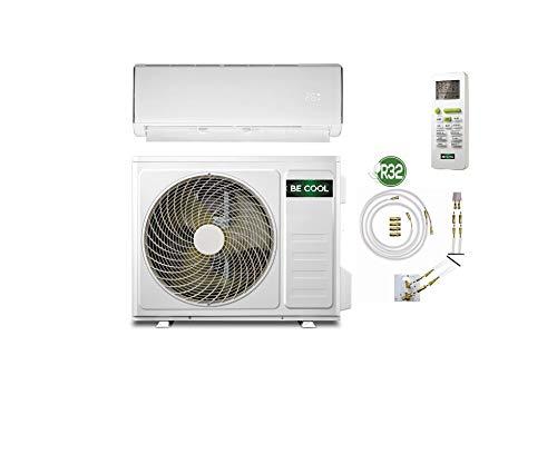 BECOOL Klimaanlage Split-Klimagerät 12000 BTU / 3400 Watt mit Quick-Connector-Kältemittelleitung und Wandhalterung. (Split-Klimaanlage bis 42m² Raum)