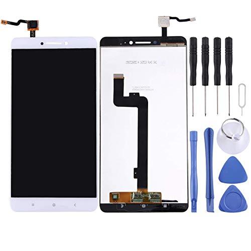 De Galen Kit de accesorios de repuesto LCD para pantalla LCD Xiaomi y digitalizador de montaje completo para Xiaomi Mi Max Reemplazo (Color: Blanco)