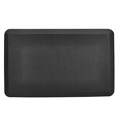 AmazonCommercial Ergonomic Anti-Fatigue Standing Mat, Comfort Standing, Office Mat, Desk Mat, Service Counter, 81 x 51 x 1.9 cm, Black