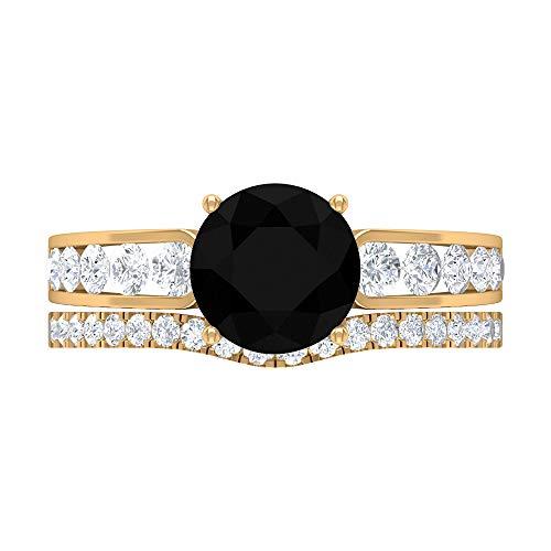 Rosec Jewels 18 quilates oro amarillo Round Brilliant Moissanite