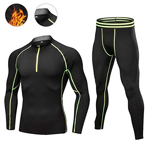 KEKE Thermisch ondergoed voor heren Quick Dry Base Layer Sport Compressie Pak voor Workout Skiën Hardlopen Wandelen Fietsen