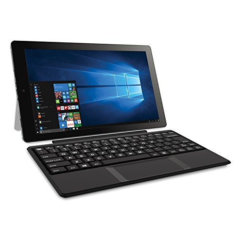 "RCA Cambio 10"" 2-in-1 Notebook Tablet with 32GB Storage, Intel Atom Z8350 Processor, 2GB RAM, Windows 10, Includes Keyboard"