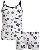 DKNY Girls 2-Piece Camisole and Boyshort Underwear Set, White, Size Small'
