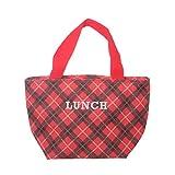 Borsa lunch box tartan con manici, da 6 litri Rosso