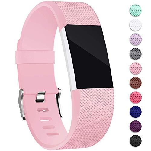 Mornex Für Fitbit Charge 2 Armband, Original Ersatzarmband Sport Fitness Watch Band Small, Rosa