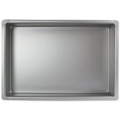 PME Oblongo Molde para Pastel de Aluminio, Plateado, 9 x 13 x 2 Pulgadas