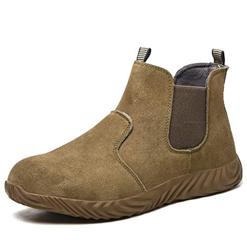 Zapatos de seguridad 2020 Nueva soldadura Botas de seguridad, for hombre Acero Botas top del alto antideslizante, resistente a los pinchazos calzado transpirable cómodo de trabajo, impermeable / alta