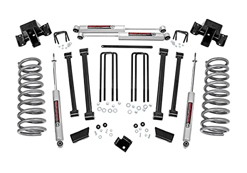 Rough Country 3' Lift Kit (fits) 1994-2002 Ram Truck 2500 4WD   N3 Shocks   Control Arms Suspension System   351.20