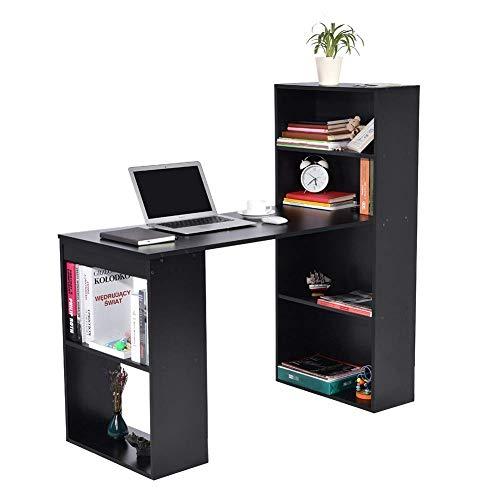YXZQ Scaffale, Scrivania per Computer, Scrivania per Studio PC Scrivania per Laptop Tavolo ad Angolo Tavolo da Lavoro Workstation Scrivania per Computer con scaffali per libreria per Ufficio