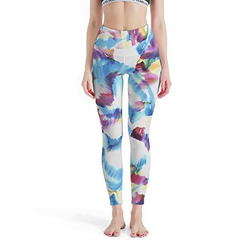 Leggings de teñido anudado para mujer, pantalones de yoga para yoga blanco m