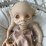 AN-LOKLIK Reborn Baby Dolls Kit 17 Inch Reborn Accessories Werewolf Unpainted Silicone Making DIY Kits ( Head + Full Limbs) with Cloth Body
