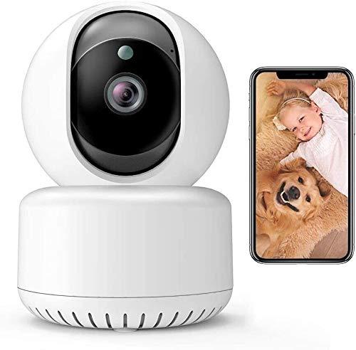 Cámara de seguridad Cámara inalámbrica 1080p FHD WiFi IP Cámara interior con visión nocturna Detección de movimiento de la visión de 2 vías Reproducción de la velocidad de la seguridad de la seguridad