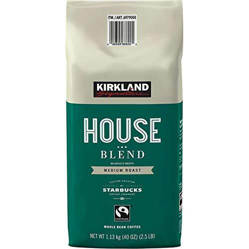 Kirkland Signature House Blend Coffee: Medium Roast, Whole Bean - 2.5 lbs