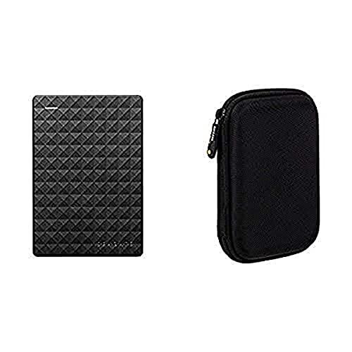 Seagate Expansion 2TB Portable External Hard Drive USB 3.0 (STEA2000400) & Amazon Basics External Hard Drive Case bundle