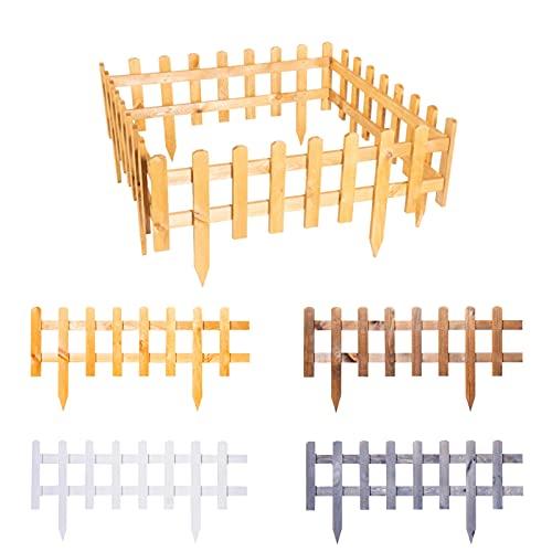 BooGardi Steckzaun aus imprägniertem Holz zum Abgrenzen Anthrazit 20 x 93,5 cm in verschiedenen Größen und Farben