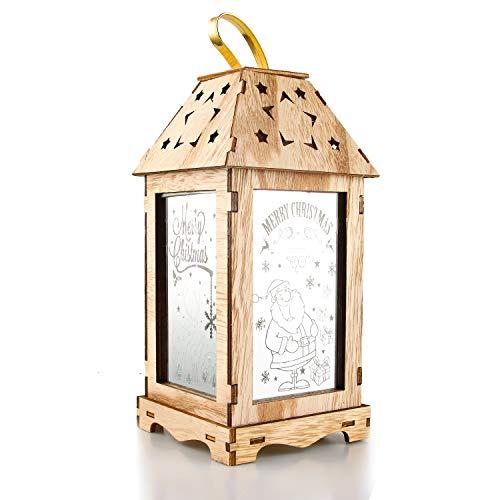Lanterna Natalizia, Lanterne Grandi, Lanterne Decorative, Colorate, Luci Natalizie, Luce Bianca...