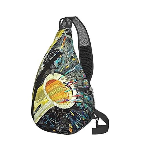 Bandolera bandolera para saxofón, diseño de musica, jazz, saxofón, ligera, impermeable, bolsa de hombro, unisex, para viajes, senderismo, mochila pequeña, para mujeres, hombres, niños