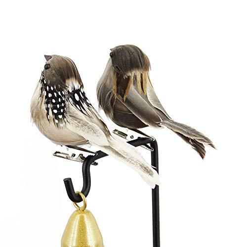 ZNN Simulatie Sparrow Veer Vogel Veer Schuim Grijs Simulatie Vogelrekwisieten Tranches Tuin Kerstversiering Dierenbont Tuin Thuis