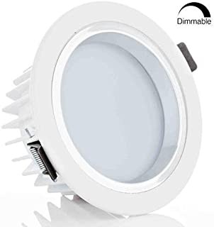 12Watt 4-inch Dimmable 6000K (Daylight) Retrofit LED Recessed Lighting Fixture - LED Ceiling Light - 90W Halogen Equivalent, Frosted Glass Bright White Shell, Remodel Can Light, Recessed Downlight