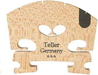 1 4/4 Violin Aubert Semi Fitted Bridge: 100543 Teller Germany 01042FU, With E Ebony insert, of Bosnian Maple A Product of Germany VWWS