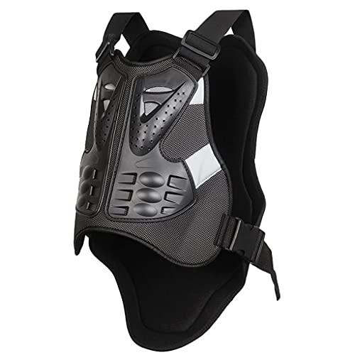 DXMGZ Motocicleta Chaleco Carreras Protector con Protectores de Espalda, Armadura de Pecho Protector de Espalda Chaleco de Carreras de Motocross, para Montar Patinaje sobre Ruedas Esquí Snowboard