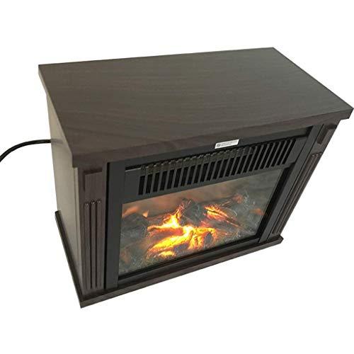 ScottDecor Un calentadorUn Ventilador de calefacción Eléctrico con Llamas de Fuego Efecto No empotrable Registro eléctrico portátil Estufa de leña Effect 2 800-1500W ajustes de calefacción