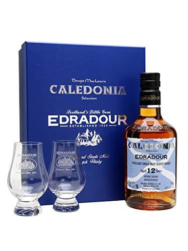 Edradour 12 Jahre Caledonia Selection 0,7 Liter + 2 Gläser