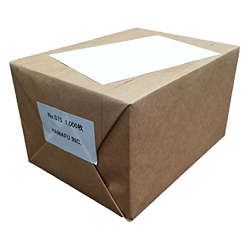 No.S15 ハマフ【厚手タイプ】白色両面無地ハガキサイズ用紙 1,000枚入(148×100mm)