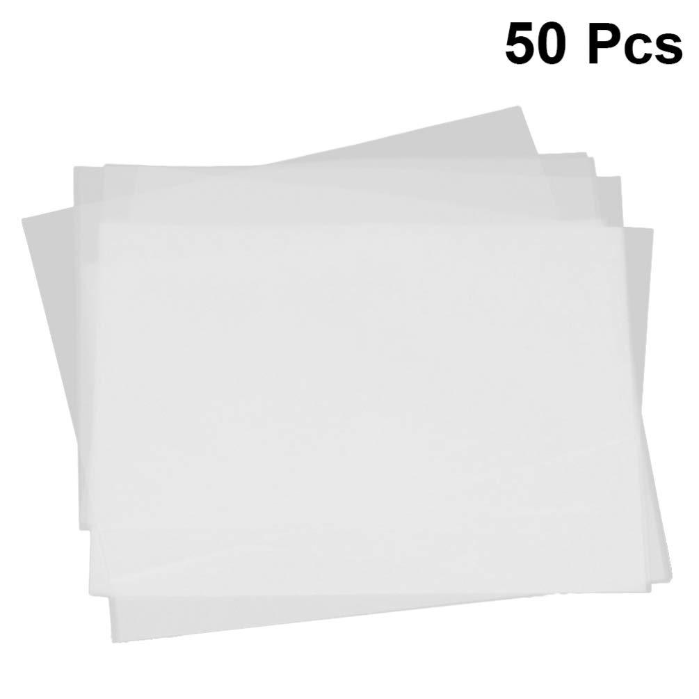 TOYANDONA Papel de Trazado Translúcido Papel de Boceto para Imprimir Bocetos Dibujo de Trazado Animación Dibujo de Ingeniería Marcador Tinta Papel de Copia 50 Piezas: Amazon.es: Hogar