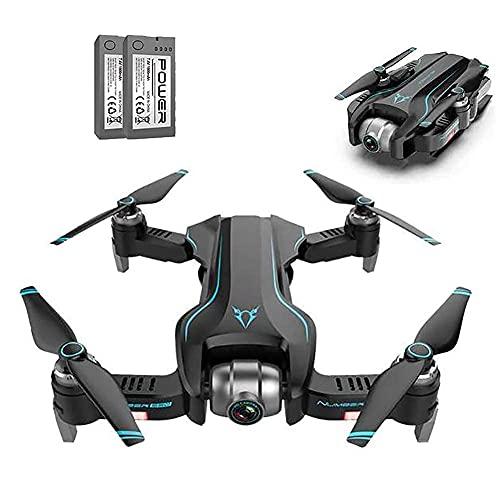 rzoizwko Drone, GPS Drone con cámara 4K, WiFi FPV Quadcopter Plegable Drone 18 Minutos de Tiempo de Vuelo, retención de altitud, despegue/Aterrizaje con una tecla, (2 baterías) (Color: Negro y Azul